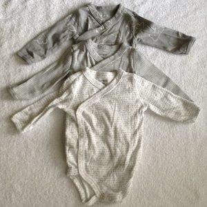 Carter's 3 BodySuit Bundle Grey 3Months